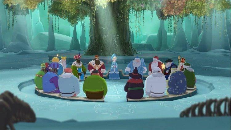 Todos los genios de la Navidad durante una reunión