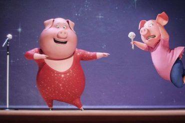 Gunter y Rosita sobre el escenario