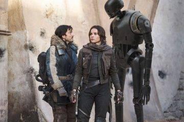 Diego Luna y Felicity Jones en 'Rogue One'