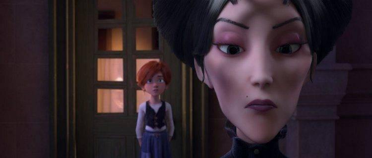 La protagonista junto a Régine Le Haut, la malvada de la película.