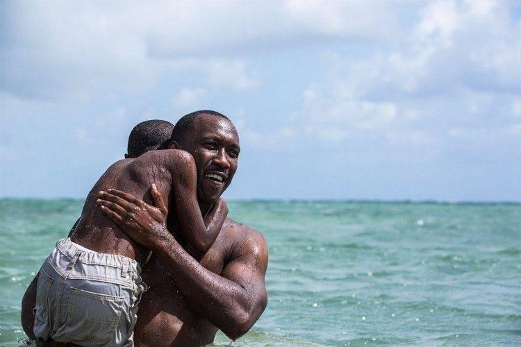 Los interpretes Alex R. Hibbert y Mahershala Ali protagonizando un momento del film.