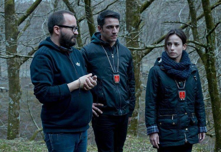 Fernando González Molina, Juan Carlos Librado 'Nene' y Marta Etura durante el rodaje.