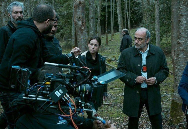 Fernando González Molina y Marta Etura rodando 'El guardián invisible'
