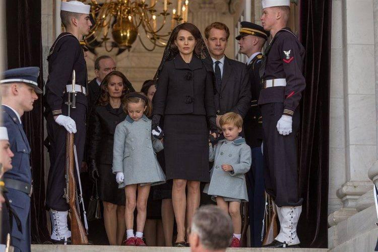 Natalie Portman en la escena del entierro de John F. Kennedy