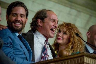 De izquierda a derecha Edgar Ramirez, Mathey MacConaughey y Bryce Dallas Howard