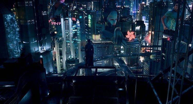 Fotograma de la película ambientada en el Cyberpunk