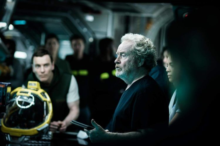 Ridley Scott en el rodaje de Alien Covenant