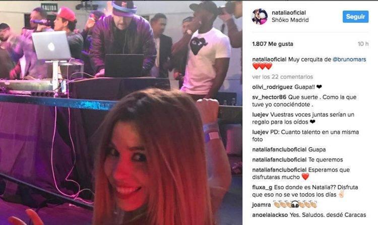 Natalia Bruno Mars concierto Shoko Madrid