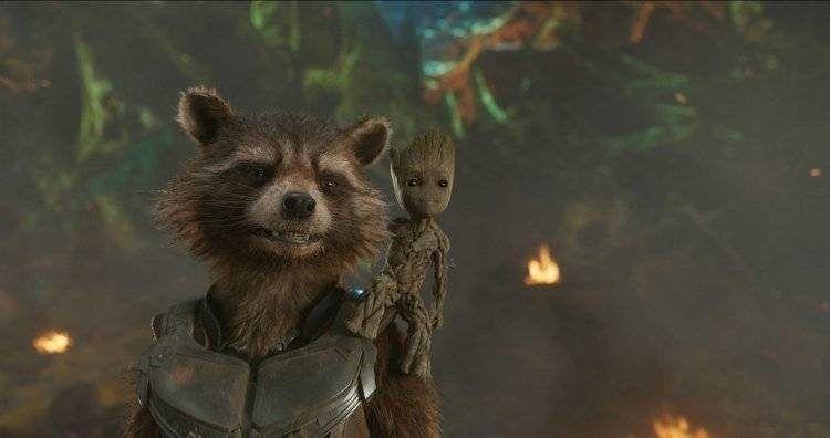 Rocket y Groot, dos personajes de diez
