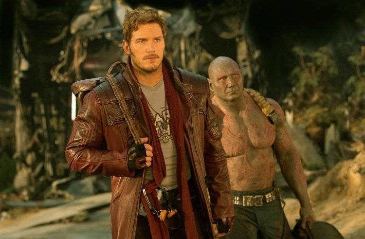 Chris Pratt es Peter y Dave Bautista es Drax