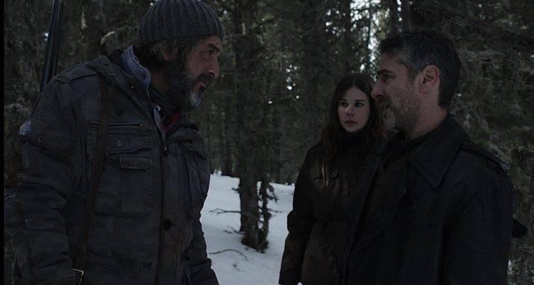 Ricardo Darín, Leonardo Sbaraglia y Laia Costa en medio de la nieve