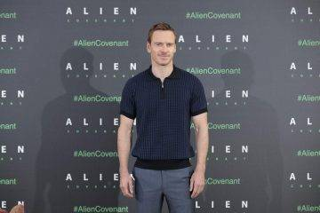 Michael Fassbender en Madrid presentando Alien Covenant