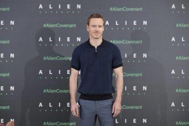 Michael Fassbender en Madrid presentando Alien Covenant