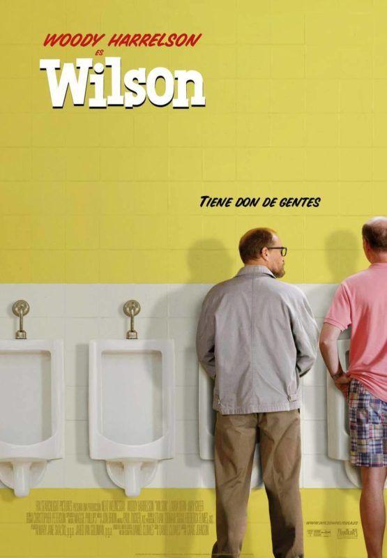 Cartel de la película Wilson con Woody Harrelson
