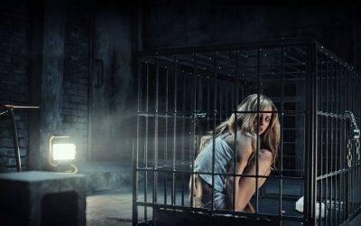 Ksenia Solo en su jaula