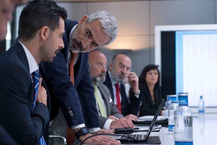 """Una de esas aburridas reuniones de altos ejecutivos de """"Despido procedente"""""""