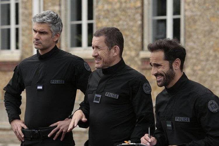 Dany Boon, Florent Peyre y Francois Vincentelli de policías