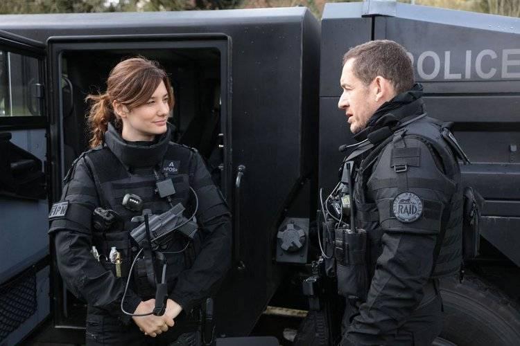 Alice Pol y Dany Boon en Una policía en apuros