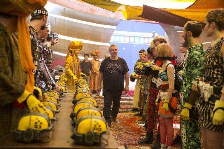 Luc Besson en una imagen del rodaje de la película de Valerian.