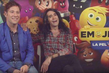 """Mario Vaquerizo y Carlos Latre nos presentan """"Emoji la peli"""""""