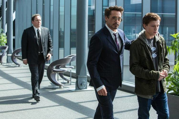 Jon Favreau, Robert Downey Jr. y Tom Holland comparten escena