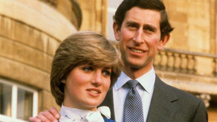 Imagen de los príncipes de Gales Carlos y Diana