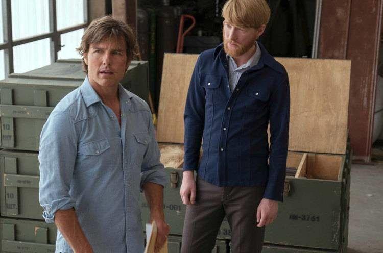 Domhnall Gleeson y Tom Cruise comparten escena en la cinta