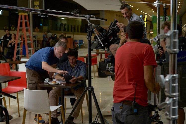 """Andrés Koppel y Quim Gutiérrez durante el rodaje de la película """"La niebla y la doncella"""""""