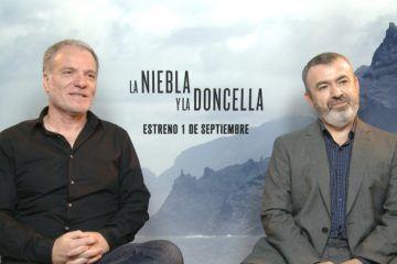 Andrés Koppel y Lorenzo Silva durante la entrevista