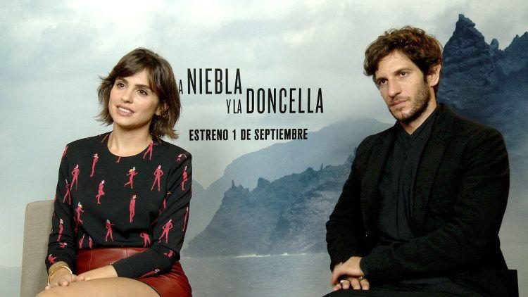 Quim Gutiérrez y Verónica Echegui durante la entrevista