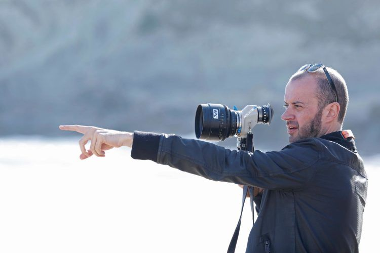 """El director Fernando Franco en el rodaje de """"Morir""""."""