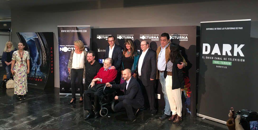 Narciso Ibáñez Serrador, Caroline Munro, Jack Taylor y Don Coscarelli.