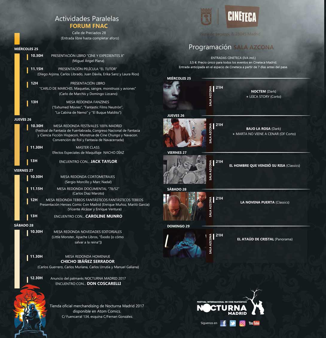 Programación del Festival Nocturna 2017 en Matadero y Fnac