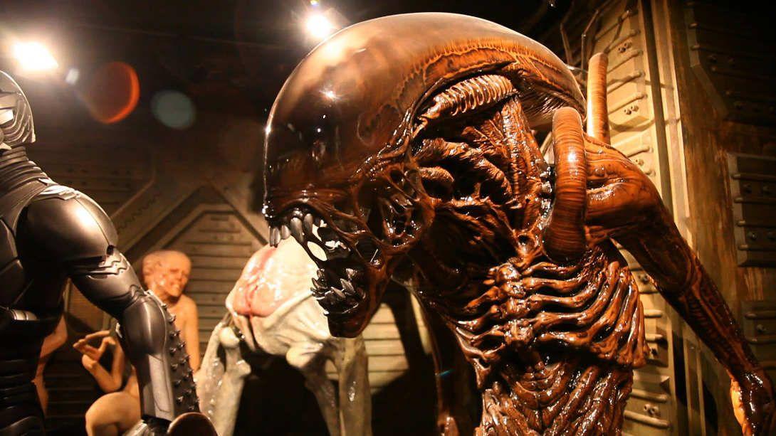Una reproducción de un mítico Alien mostrada en el documental.
