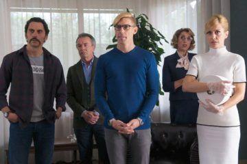 Adrián Lastra, Alexandra Jiménez, Oscar Martinez, Paco León y Rossy de Palma en la película