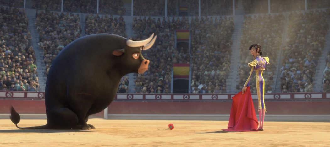 Ferdinand y el torero en la Plaza de las Ventas