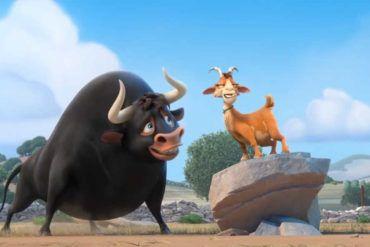 Ferdinand y su amiga la cabra en una escena de la película