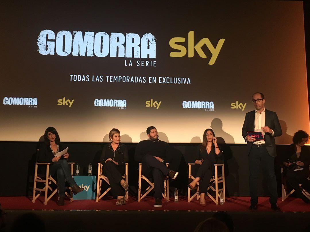 "Protagonistas de ""Gomorra"", Salvatore Esposito, Cristina Donadio y Cristiana Dell'Anna"