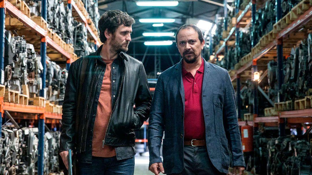 """Luis Callejo y Raúl Arévalo en """"El aviso"""""""