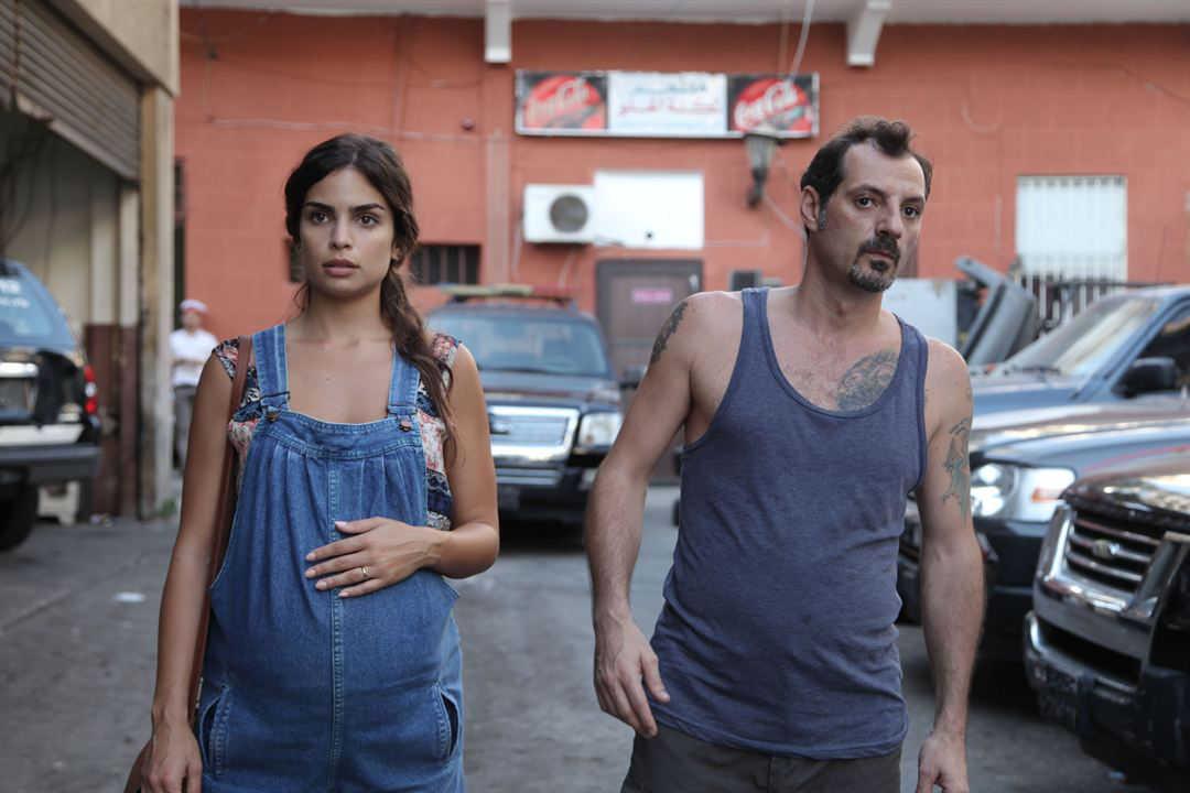 """Adel Karam y Rita Hayek en la película """"El insulto"""""""