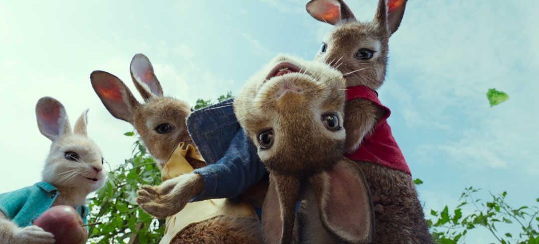Peter Rabbit y sus hermanas en la película