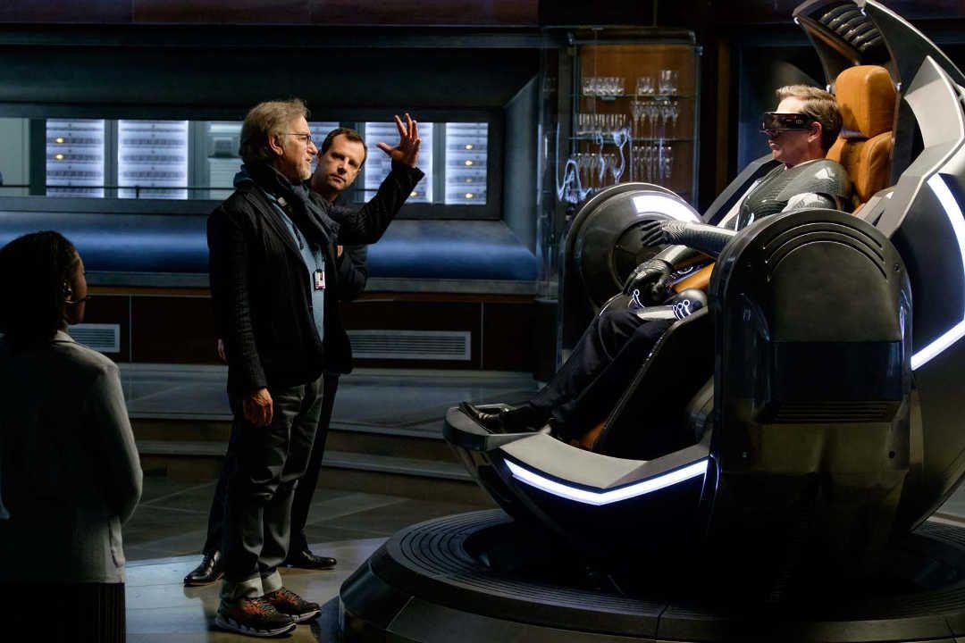 "Steven Spielberg en el rodaje de ""Ready Player One"""