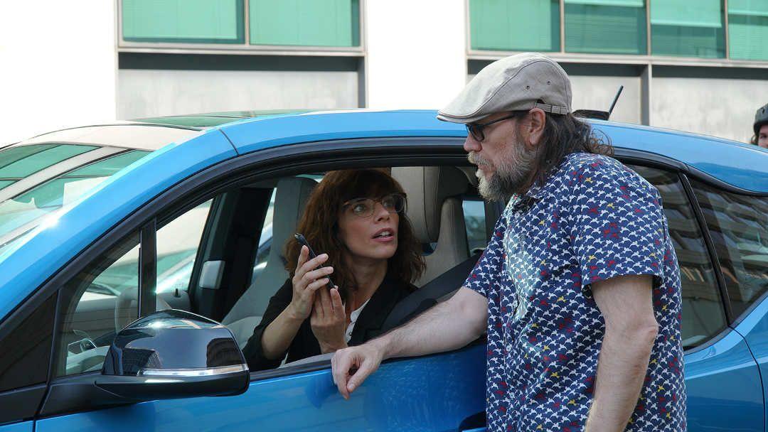 Santiago Segura y Maribel Verdú durante el rodaje