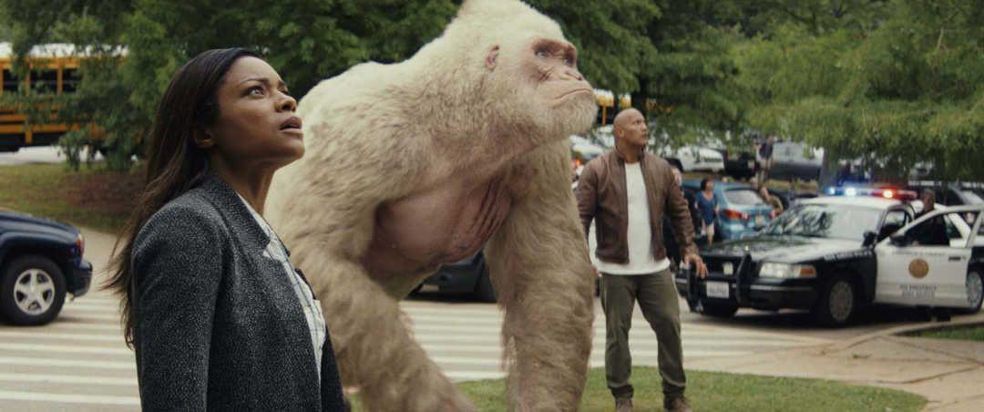Escena de la película Proyecto Rampage de Netflix