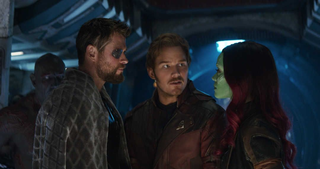 Chris Hemsworth, Chris Pratt, Zoe Saldana