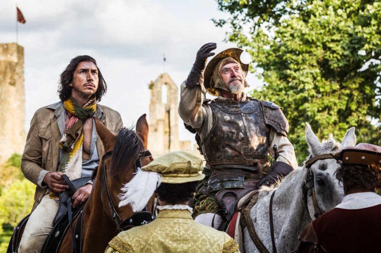 Adam Driver es Sancho y Jonathan Pryce es Don Quijote