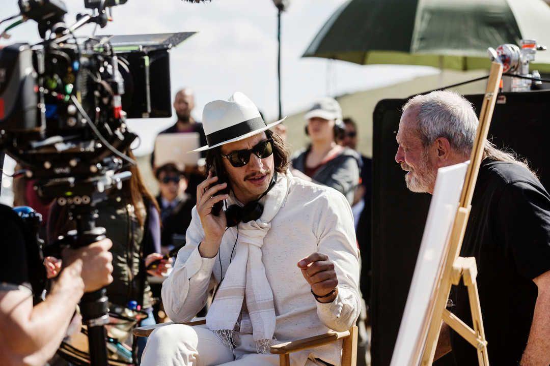 Adam Driver durante el rodaje de la película bajo las órdenes de Terry Gilliam