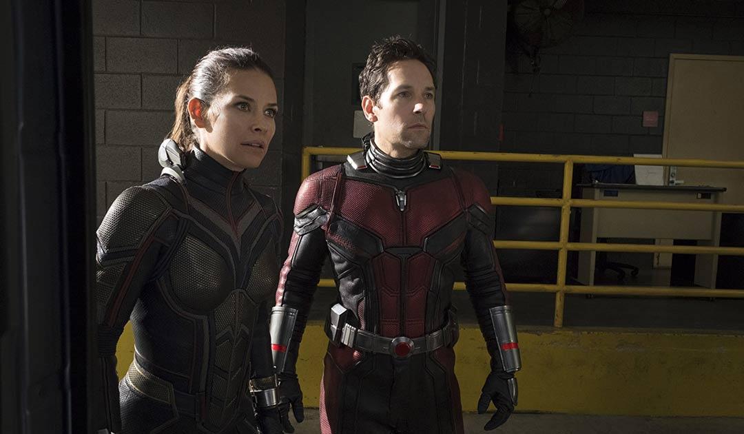 "Evangeline Lilly y Paul Rudd en ""Ant-Man y la Avispa"""