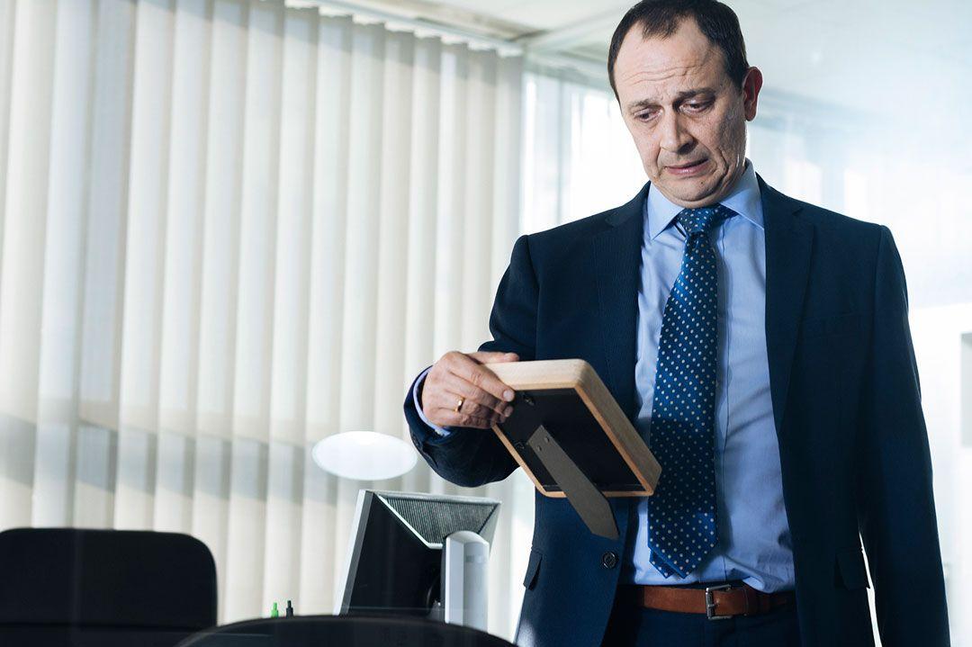 """Luis Callejo en el """"Jefe"""" de la película"""
