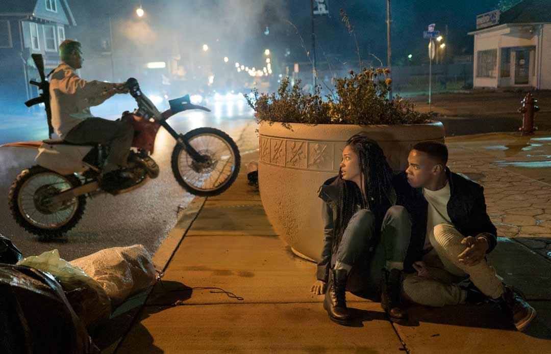 """Joivan Wade y Lex Scott Davis en """"La primera purga: La noche de las bestias"""""""